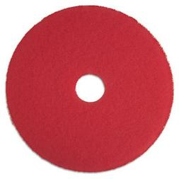 "3M 08392 Low-Speed Buffer Floor Pads 5100, 17"" Diameter, Red"