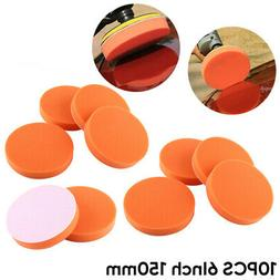 10pcs 150mm Car Polishing Pads Sponge Buffing Waxing Pad For