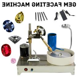 110V-240V Gem Faceting Machine Jewelry Polisher Jade Flat Gr