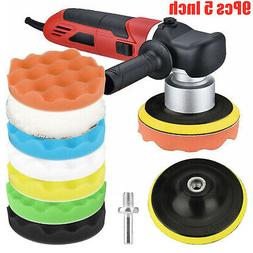 9pcs 5 Inch Car Buffing Pads Polishing for Drill Sponge Kit