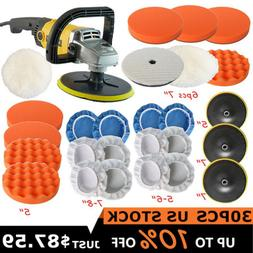 1200W Electric Car Polisher Kit Buffer Sander Variable Speed
