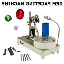 120W Gem Faceting Machine Jewelry Polisher Jade Flat Grinder