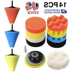 Wheel Polish Polishing Power Cone Foam Buffer With Power Dri