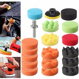 "19PCS 3"" High Gross Polishing Pad Kit For Car Polisher+M10 D"