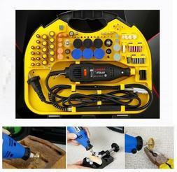 211pcs Rotary Tool Set Mini Drill Grinder Engraver Sander Po
