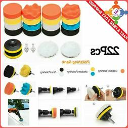 22 Pcs Wheel Polish Polishing Power Cone Foam Buffer With Po