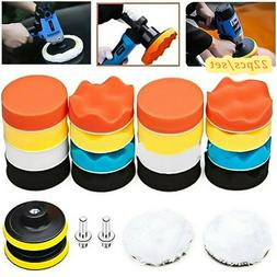 "22pcs 3"" Polishing Waxing Buffing Sponge Pads Tools Kit Comp"