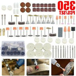 350pcs Dremel Rotary Accessory Kit Grinding Sanding Polishin