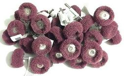 "36pc Polishers Buffers Abrasive 1"" Scotch Brite Wheels Rotar"