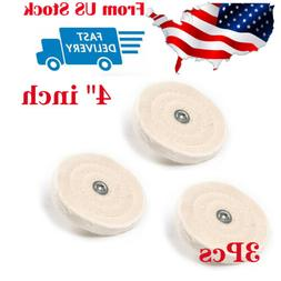 "3Pc 4"" inch Cloth Rotary Polishing Buffing Grinder Cleaning"