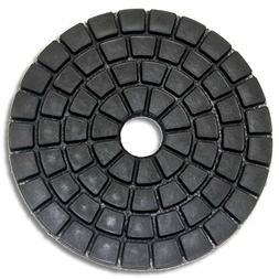 "4"" DAMO Black Buff Pads for Granite Polishing & Glazing/ Fin"