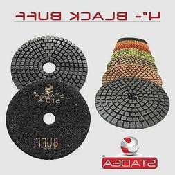 "STADEA 4"" Diamond Polishing Pad Grit BUFF Black for Granite"