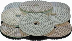 "Stadea 4"" Diamond Polishing Pads Wet -Granite Concrete Stone"