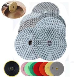 4 inch Diamond Polishing pad Wet/Dry Granite Marble Stone Qu