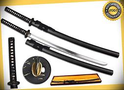 41'' 1045 Carbon Steel Sword with Ray Skin Handle with Black