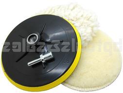 "4pc 7"" Polishing Wheel Bonnet Set Soft Quick Fit Backing Pad"