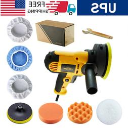 "5"" 600W Car Polisher Kit Sander Buffer Portable Waxer Machin"