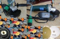 5 Inch Variable Speed Wet Polisher Polishing 14 Pad DAMO Buf