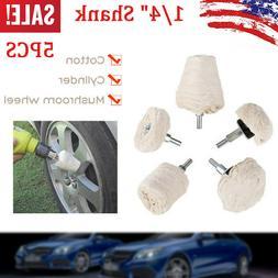 5 PCS Buffing Pad Polishing Mop Car Wheel Buffer Polisher Ki