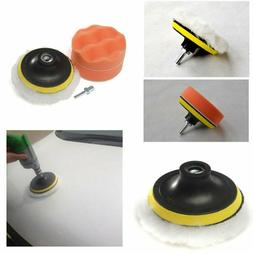 5 pcs/set 4 inch Polishing Buffer Sponge Pad Set +Drill Adap