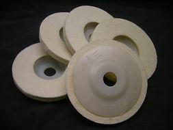 5 pieces  4 inch Round Polishing wheel wool FELT polishers p