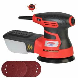"5"" Random Orbit Sander Sandpaper 6 Variable Speed Detail Pol"