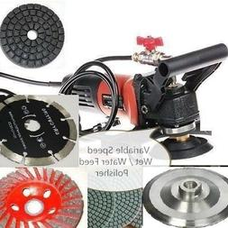 """5"""" Variable Speed Wet Polisher Grinder Lapidary Saw Marble S"""