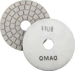 "5"" DAMO White Buff Pad for Granite Polishing & Glazing/ Fina"