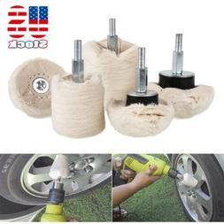 5pcs Cotton Cone Polishing Mop Buffing Wheel Pad Kit For Dri