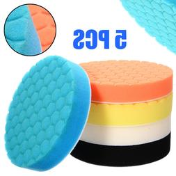 5pcs/set Sponge Polishing Pad 6 inch 150mm Buffing Waxing Pa