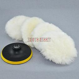 """5x 7"""" 100% Wool  Heavy Cutting and Buffing Pad For Car Polis"""