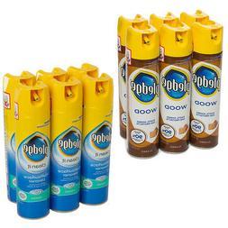 6 Pledge 8.5oz Furniture Polish Dusting Spray Can Household