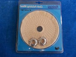 """6'' Cloth Buffing Polishing Wheel 1/2"""" Arbor Buffer Polish G"""
