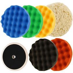 6 pad buffing polishing kit