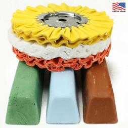 "6 Piece Kit: 8"" Airway Buffing Wheels & XL Polishing Compo"