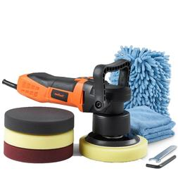 "VonHaus 6"" Random Orbital Polisher Buffer Kit with Variable"