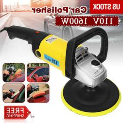 "7"" 1600W Electric 6 Variable Speed Car Polisher Buffer Waxer"