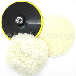 "7"" Electric Car Polishing Wheel Buffing Soft Quick Fit Backi"
