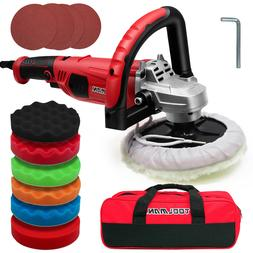Toolman 7-inch Buffer Polisher,10A,6 Variable Speed with 6PC