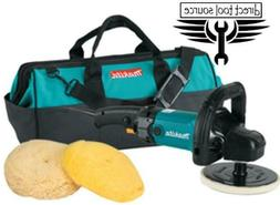 Makita 9237CX3 7 in. Polisher Loop Handle with Wool Pads and