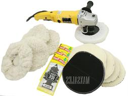 "7"" Variable 6 Speed Electric Car Polisher Buffer w/ Bonnets"