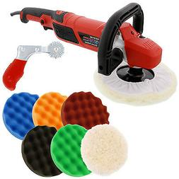 "7"" Variable Speed Polisher Buffer, Polishing Buffing 6 Pad K"