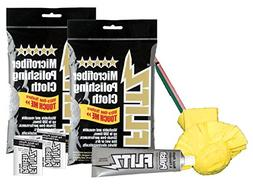 Flitz Buff Ball Yellow + Polish + 2 cloths + 2 pks
