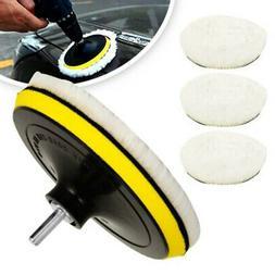 Buffing Waxing Polishing Wool Pads Kit Set Car Polisher Dril