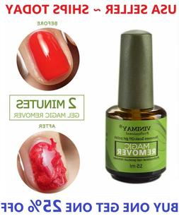 Burst Nail Gel Magic Remover Polish Soak Off Gel Coat Cleane