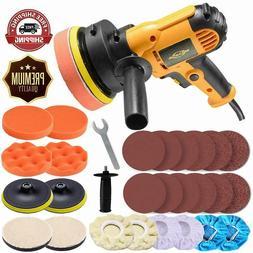 "5"" Car Polisher Buffer Sander Kit Polishing Machine W/ 6"" &"