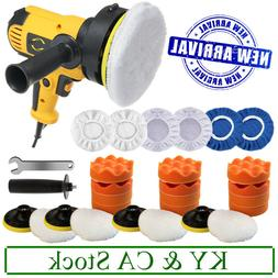 Car Polisher Kit Sander Buffer Waxing Machine Variable Speed
