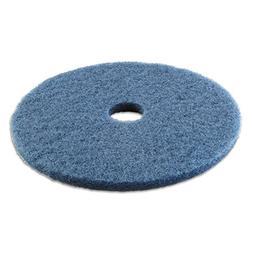 "Standard Scrubbing Floor Pads, 20"" Diameter, Blue, 5/Ca"