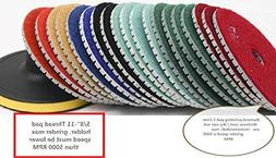 "5"" 5 Inch 125mm Diamond Polishing Pad 8 Pieces Free Backer G"