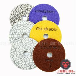 Diamond Polishing Pads 4 inch Wet/Dry 3 STEP SET Granite Sto